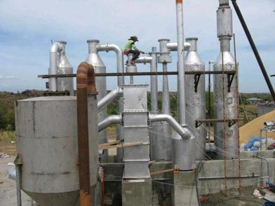 Biomass Gasifier and Cooling and Cleaning System
